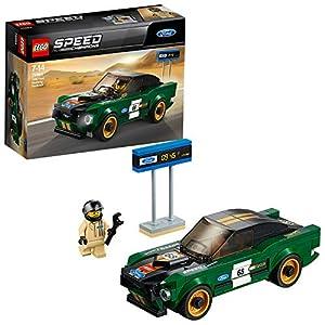 LEGO Speed Champions - Ford Mustang Fastback de 1968, Coche de Juguete de Carreras para Construir, Jugar y Exponer, Incluye Minifigura de Piloto (75884)