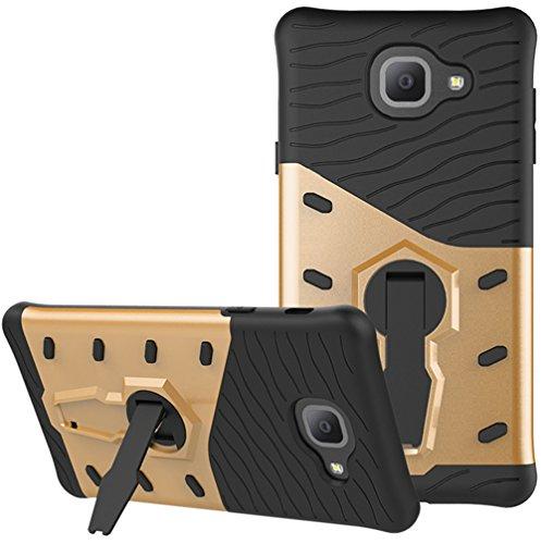 """Coque Samsung Galaxy J7 Max 2017, Nnopbeclik® 2in1 Conception """"Armor Séries 3D Style"""" en Bonne Qualité Hard Case Slim Housse (5.7 Pouces) Resistant Absorption de Choc / Design Texture Backcover / 360°Rotation Stand Support Incassable Case Anti-doigt Scratches Etui Boîtier Couverture Rigide Retour étui """"NOT FOR J7 2017/2016/2015"""" - [Or] cce9ddfd-d09d-4272-a623-7eda25206abf"""
