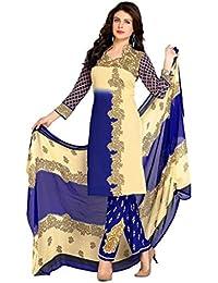 K Designer Women's Chiffon Unstitched Dress Material (Mehak4018_Multi-coloured_Freesize)