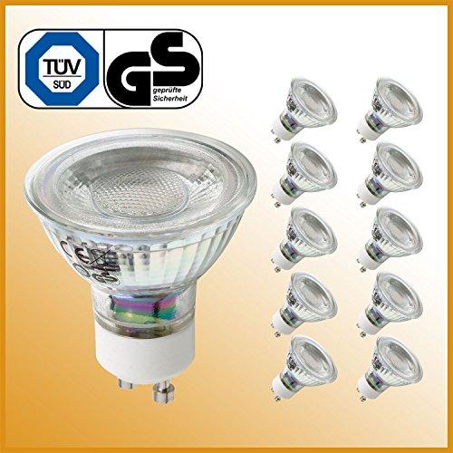 LED Lampe GU10 5 Watt ersetzt 50 Watt Halogen warmweiß 10er Set LED Leuchtmittel Energiesparlampe Glühbirne LED Glühlampe LED Birne