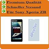 4 x ENTSPIEGELNDE Displayschutzfolie Bildschirmschutzfolie von 4ProTec für Sony Xperia ZR - Nahezu blendfreie Antireflexfolie