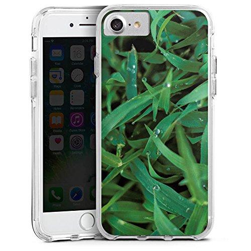 Apple iPhone 6 Bumper Hülle Bumper Case Glitzer Hülle Grashalm Tautropfen Gras Bumper Case transparent
