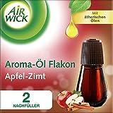 Air Wick Aroma Diffuser Flakon Apfel-Zimt mit ätherischen Ölen, Nachfüller für Aroma-Öl Diffuser, 2 Stück (2 x 20ml)