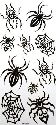 yimei-wasserdicht-temporare-tattoos-schwarze-spinne-insekt