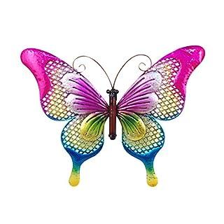 Art Deco Home - Wanddeko Schmetterling, Metall, 41 cm - 13018SG