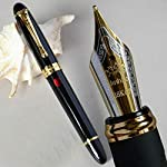 GOLD LEAF Jinhao X450 Fountain pen, Luxury Spider Red color, Fountain Pen 0.7mm Broad Nib 18KGP Golden Trim, Advance Clip...