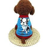 Hawkimin Chihuahua zubehör Niedliche Haustier-Hundet-Shirts Patchworkdruck Kleidung kleines Welpen-Kostüm