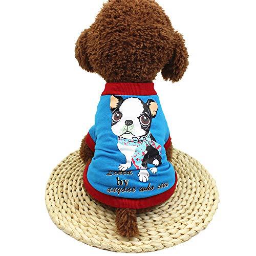 (Hawkimin Chihuahua zubehör Niedliche Haustier-Hundet-Shirts Patchworkdruck Kleidung kleines Welpen-Kostüm)