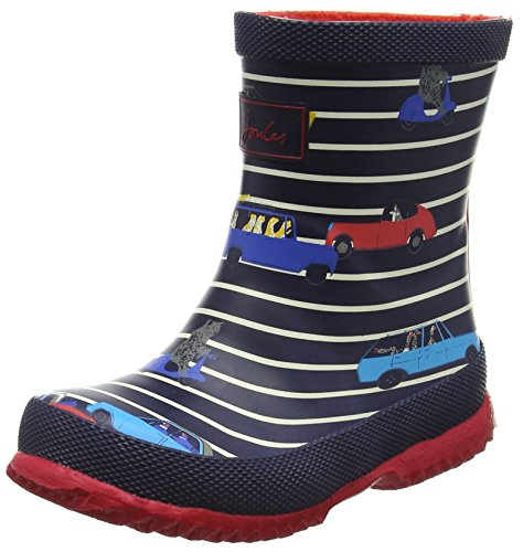 Boy Toms Toddler Schuhe (Joules Baby Jungen Welly Stiefel, Blue (Navy Stripe Car), 21 EU)