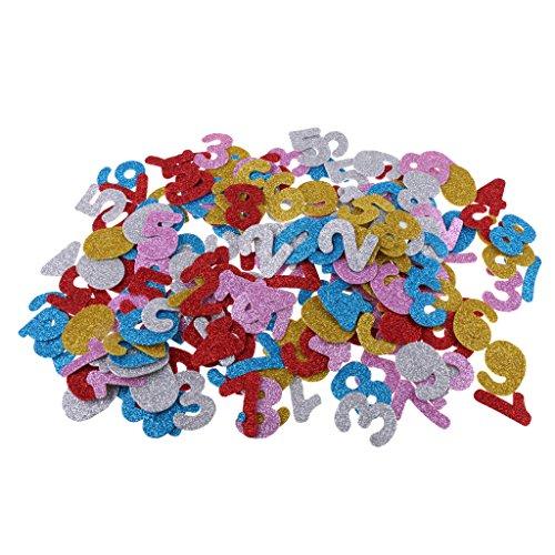 zer Sticker Buchstaben Nummer Schaumstoff Aufkleber für DIY Handwerk Dekoration - Zahlen ()