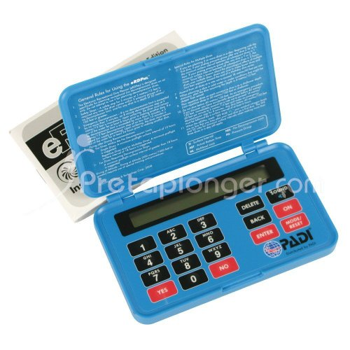 Padi Table de plongée électronique eRDP et notice d'utilisation - VF