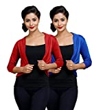 Goodtry Women's Shrug pack of 2 Red and ...