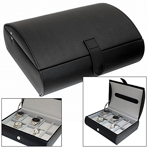gents-black-textured-faux-leather-10-watch-storage-case-organiser-box