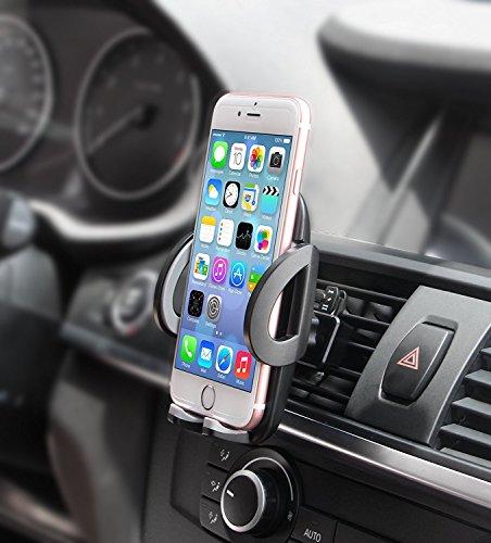 Quntis Handyhalterung Auto Lüftung Lüftungsschlitz Belüftung Universale Autohalterung für iPhone 7 7 Plus SE 6s 6s Plus 6 6 Plus SE 5s 5c 5 4 4s, Samsung Galaxy S6 S5 S4 S3 Note 3 Note4 und andere Smartphones, Schwarz
