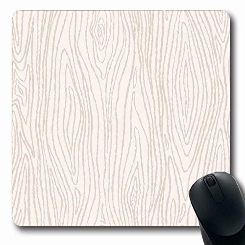 Luancrop Mousepads Farben Beige Maserung Holz Grau Möbel Muster Linie Organic Tree Timber Delicate rutschfeste Gaming Mouse Pad Gummi Längliche Matte -