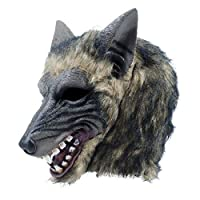 Fancy Dress VIP Express Adults Big Bad Wolf Werewolf Howling Animal Realistic Rubber Overhead Mask Halloween Accessory