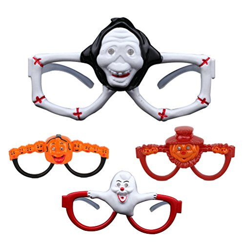 hten Gläser Brillen LED Party Brille Glow Sonnenbrille ohne Linsen Halloween Cosplay Requisiten (Random Stil) ()