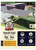 Hippo Sun Shade Sail - (80-85%) Sun Blockage - Grey Colour - 9.5