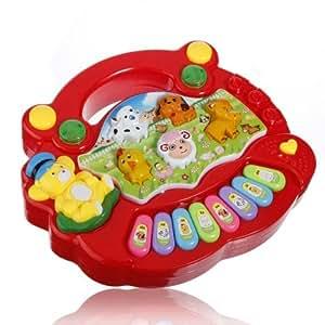Clavier bébé enfants enfant La Ferme des animaux Piano électrique jouet musical