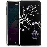 Samsung Galaxy A3 (2016) Housse Étui Protection Coque Fleurs Liberté Oiseaux