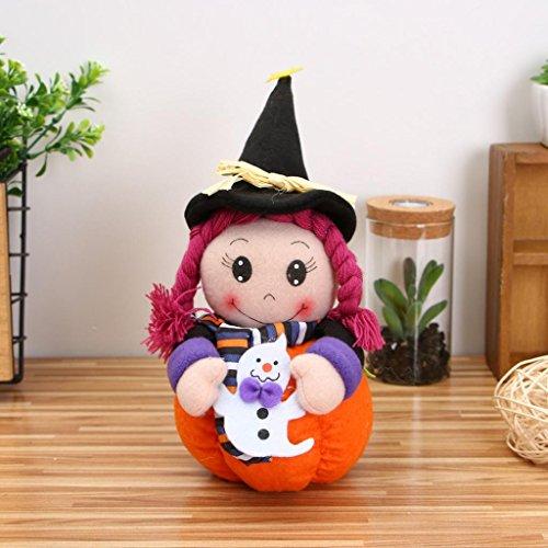 Hunpta Plüsch Kürbis Mädchen Puppen Kinder Spielzeug Halloween Geburtstag Geschenk Hausdekor (A)