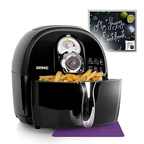 Duronic AF1 /B Healthy Low Fat 1500W Air Fryer Multicooker Mini Oven - Black - Recipe Book Included - Cooker Food Oven