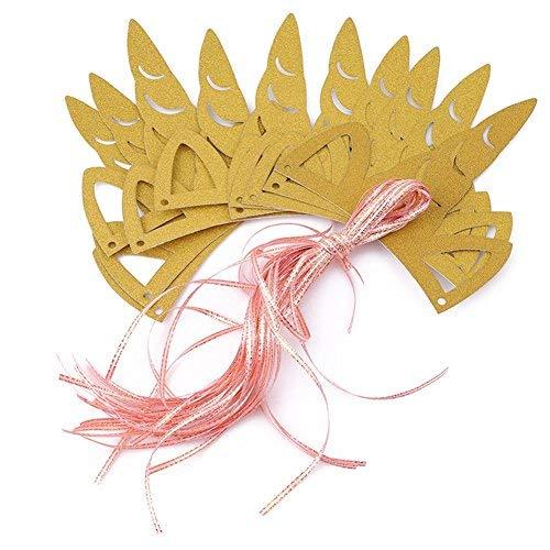 ODN 10tlg. Einhorn Stirnband Haarband Partyhüte Glitter Geburtstag -