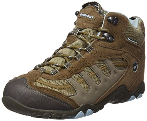 Hi-Tec Penrith Mid Waterproof, Chaussures de Randonnée Hautes Femme Marron (Brown/light Blue)