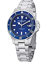 Stuhrling Original Aquadiver Analog Blue Dial Men's Watch - 664.02