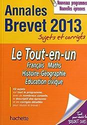 Objectif Brevet 2013 Annales sujets et corrigés - Le Tout-en-un
