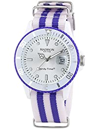 Madison New York analog Sailor Silver dial Unisex watch - U4616/1