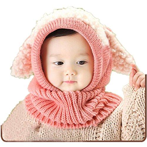 OverDose El bebé del invierno para niños muchachos de las niñas woolen Cofia de la capilla de la bufanda capsula los sombreros (un tamaño,