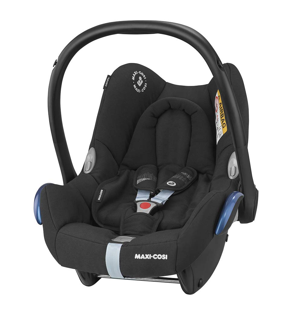 Maxi-Cosi CabrioFix Baby Car Seat Group 0+, ISOFIX, 0-12 Months, 0-13 kg, Frequency Black with Easyfix Car Seat Base, ISOFIX or Belted Installation for CabrioFix, 0-12 m, 0-13 kg Maxi-Cosi Optimal side impact protection: maxi-cost's side protection system technology features in the wings of the car seat to reduce the risk of injury in a side impact collision Click-and-go installation: quick and easy installation with any maxi-cosi base unit Used in combination with the Maxi-Cosi CabrioFix infant car seat 2