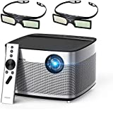 """XGIMI H1 DLP Projector 300"""" Display Home Theater Native HD 1080P Support 4K 3D 900ANSI Lumens With Harman Hardon Stereo+2xDLP Link Active 3D Glasses-Lightwish"""