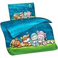 b742e2d68f Aminata Kids Schlafmütze-n Lizenz-Kinder-Bettwäsche-Set 100-x-