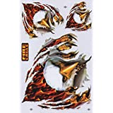 Aigle Flame Feu STICKER Tuning Racing Motocross Autocollant feuille 27 x 18 cm