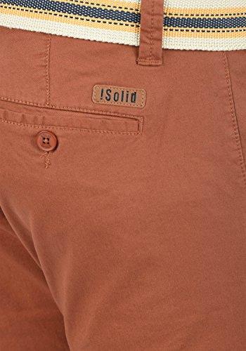 SOLID Lagos Herren Chino-Shorts kurze Hose Business-Shorts mit Gürtel aus hochwertiger Baumwollmischung Fox Brown (6792)