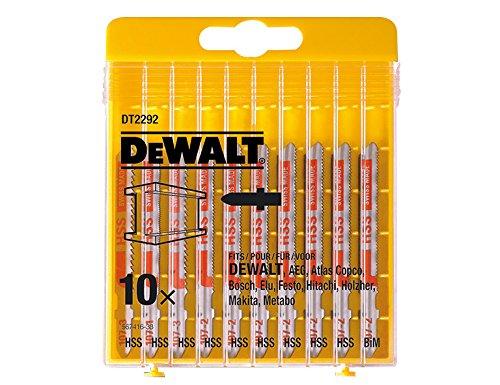 DeWalt Stichsägeblätter Set für Metall 10-teilig