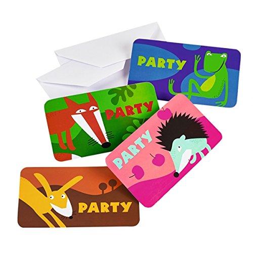 Party Wald Supplies (Amscan Tiere Einladungen und Umschläge)