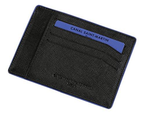 Canal Saint Martin Kreditkartenhülle, Noir Intense (schwarz) - 794005-33