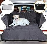 Estuyoya Kofferraumschutz Hunde Auto, Kofferraumhülle für Hunde und Haustiere wasserdicht, rutschsicher, dauerhaft anpassbar Grund 100cm x 88cm + Trennnetz - Schwarz