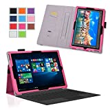 Exact Microsoft Surface Pro 4 Schutzhülle [PRO Series] - Professionelle Slim Fit PU Leder Folio hülle für Microsoft Surface Pro 4 10.8 Zoll Tablet Hellrosa