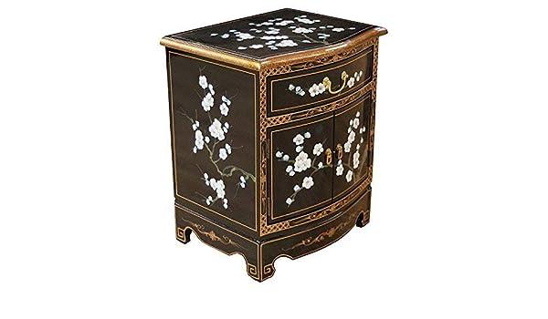 Mobili Cinesi Laccati Neri : Nera laccato prugna fiori design lato armadietto mobili orientali