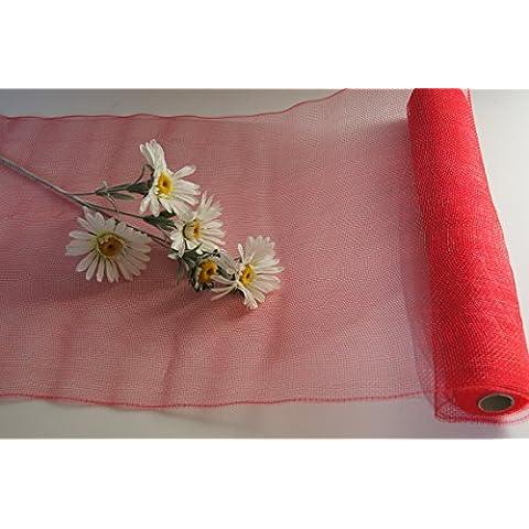 Rollo de 5m x 50cm Red plástico Red banda decorativa mesa decorativa cinta Manualidades mesa decoración RL4