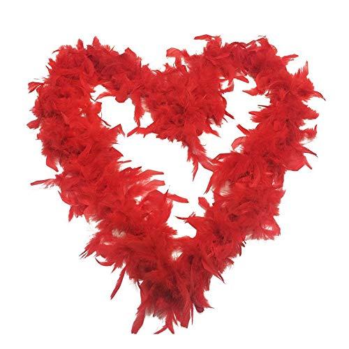 Miji 2M rote Feder Schal Türkei Feder Boas Schal DIY Hochzeit Tanz Kleidung Zubehör Dekoration