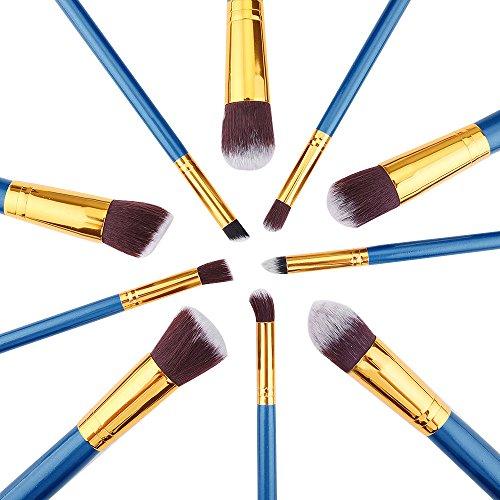 les pinceaux de maquillage eyeliner fondation contour brosses synthétiques souples premium brosses Fard à paupières bleu