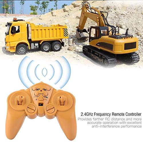 excavadora de control remoto, 1550 camión de ingeniería de 15 canales, 1/14 modelo de simulación de vehículo de construcción, rc digger car toy, regalos para niños niños