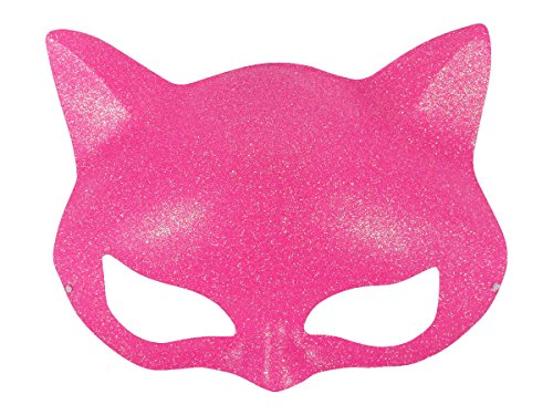 Augenmaske Katzenaugen - Inkognito Maske mit Glitzer pink - Venezianische Maske Karnevalsmaske Fasching MAS-22a pink von ALSINO