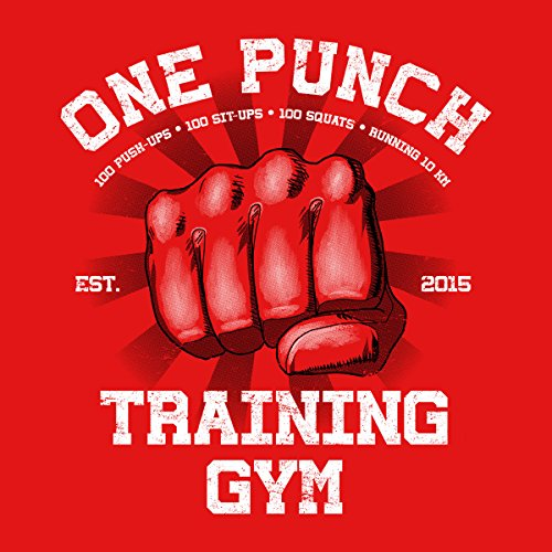 One Punch Man Gym Men's Vest Red