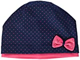 maximo Baby Mädchen Mütze Beanie mit Schleife, Mehrfarbig (Navy/Sexy Pink 4825), 49/51 (Herstellergröße: 49/51)